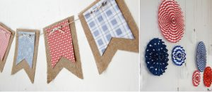 DIY Wall Decorations for a Patriotic Baby Shower