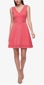 Summer Wedding Fashion | GUESS Laser-Cutout Fit & Flare Dress