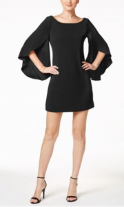 Macy's Guest of Wedding Dresses | Jessica Simpson Bow-Back Flutter-Sleeve Dress