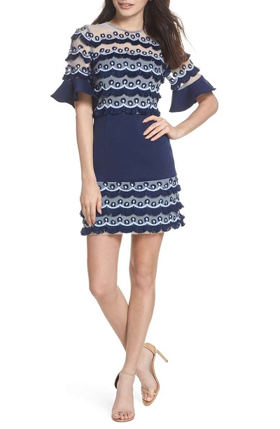 No Promises Fringe Panel Minidress KEEPSAKE THE LABEL Nordstrom