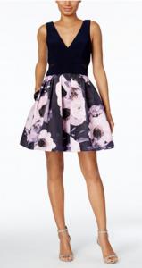 Wedding Guest Dresses   XSCAPE Floral-Print Fit & Flare Dress