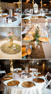 DIY Wedding Projects anyone can do | Gold Spray-Painted Mason Jar and Faux Floral Centerpieces