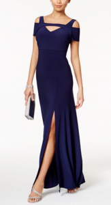 What to Wear to a Summer Wedding | Nightway Cold-Shoulder Keyhole Gown