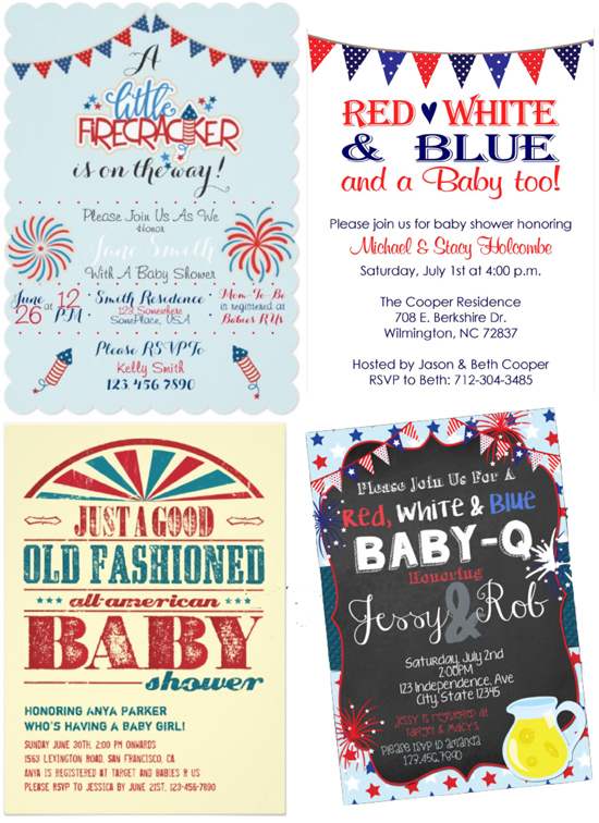 Patriotic Baby Shower Invitations | Plan a Baby Shower