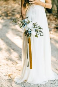2017 Bridal Bouquet Trends | Bouquet with Textured Ribbon