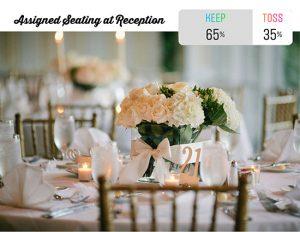 Wedding reception table | white roses and hydrangea wedding centerpiece