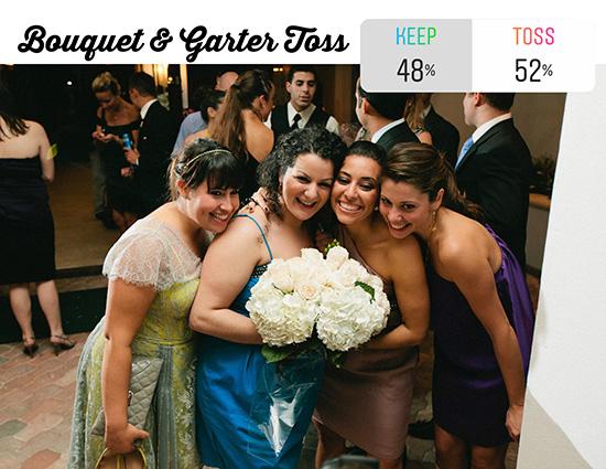 wedding guests bouquet toss