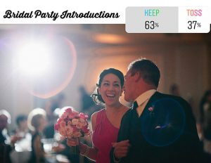 bridal party introduction at wedding reception