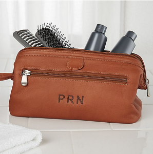 Personalized Gifts for Your Bridal Party | Leather Toiletry Bag