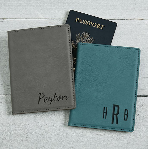 Personalized Gifts for Your Bridal Party | Leatherette Passport Holder