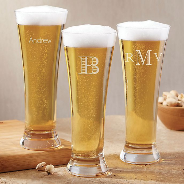 Personalized Gifts for Your Bridal Party | Pilsner Glass