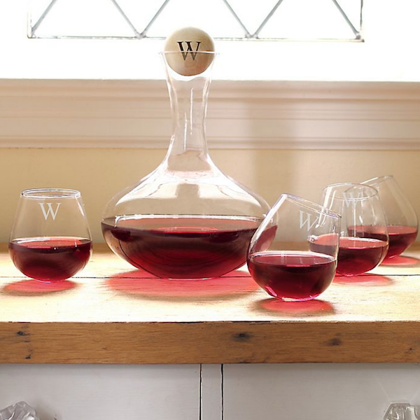 Personalized Gifts for Your Bridal Party | 5-Piece Wine Decanting Set
