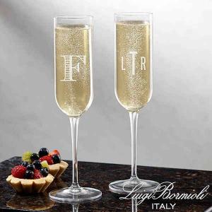 Personalized Bridesmaid Gift: Monogram Champagne Flute