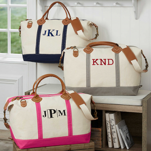 Personalized Bridesmaid Gift: Monogrammed Weekend Duffle Bag