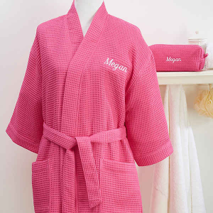 Personalized Bridesmaid Gift: Robe and Cosmetic Bag Set