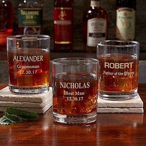 Personalized Groomsmen Gift: Whiskey Glass