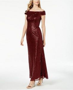 Fall Wedding Guest Sequined Gown