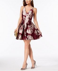 Xscape Fit and Flare Dress for Fall Wedding