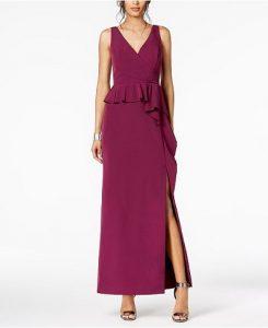 Peplum Gown for Fall Wedding