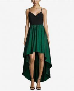 Betsy Adam High Low Gown for Wedding Guest