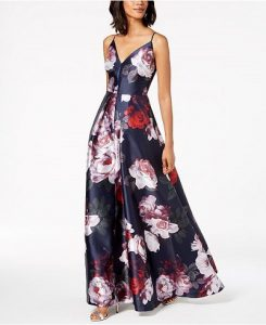 Floral Gown for Fall Wedding Guest