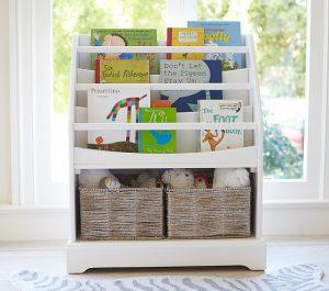 pottery barn kids bookshelf   nursery storage   shelf to display books   bookshelf with room for baskets