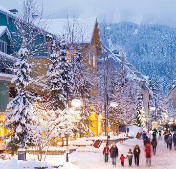 Winter Honeymoon Destinations | Whistler Village, Vancouver, BC