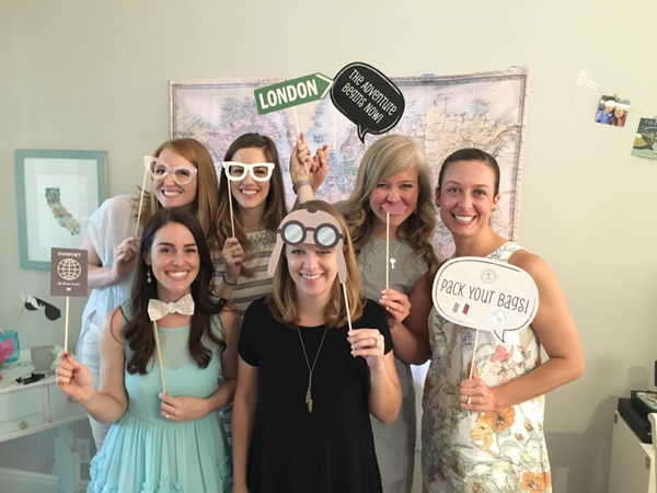 Wedding Shower | Travel-Themed Photo Booth