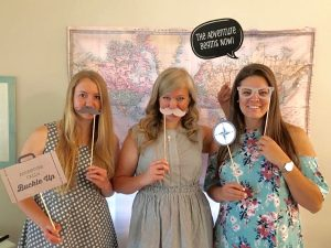 Travel-Themed Shower Photo Booth