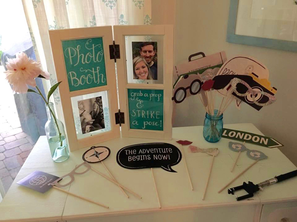 Travel Themed Shower Photo Booth Prop Ideas Registryfindercom