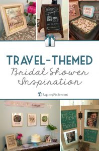 Travel-Themed Bridal Shower Inspiration from RegistryFinder.com