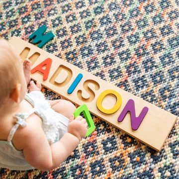 Gifts for One Year Old | Personalized Puzzle