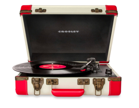 Holiday Gift Guide for College Students | Portable vintage record player with USB capabilities