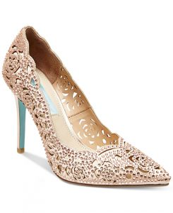 Blue by Betsey Johnson Elsa Evening Pumps from Macy's