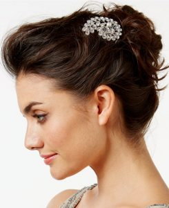 Josette antique stone and pearl comb from Macy's | Bridal Head pieces from Macy's