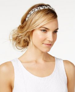 Josette rhinestone and pearl halo from Macy's | Bridal Head pieces from Macy's