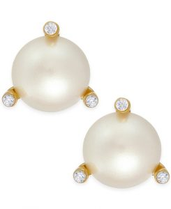 kate spade new york pearl Stud Earrings from Macy's | Bridal Earrings from Macy's
