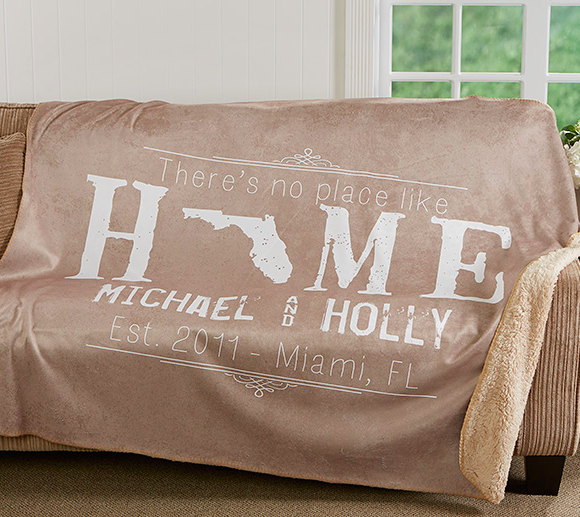 Holiday Gifts for College Students | Personalized home blanket