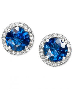 Velvet Bleau by EFFY Diamond and Sapphire Earrings from Macy's | Bridal Earrings from Macy's