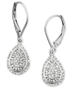 Wrapped in Love Diamond Teardrop Earrings from Macy's | Bridal Earrings from Macy's