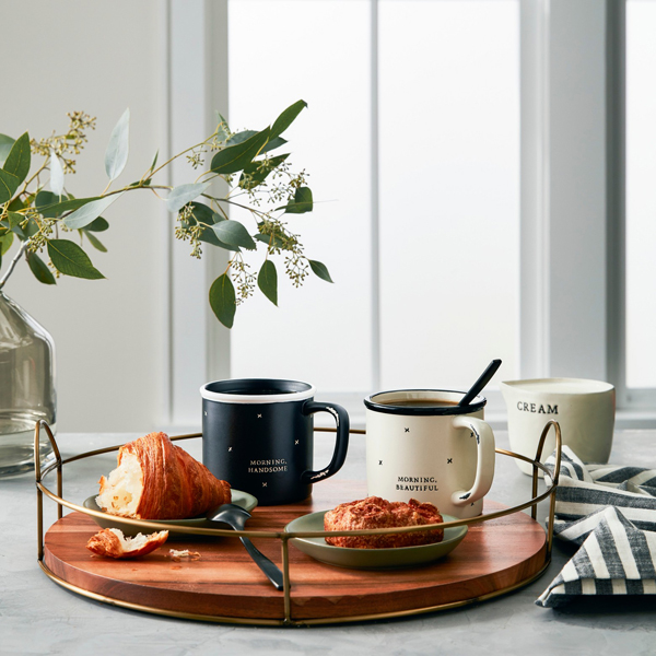 Hearth & Hand™ with Magnolia Round Wood and Wire Tray