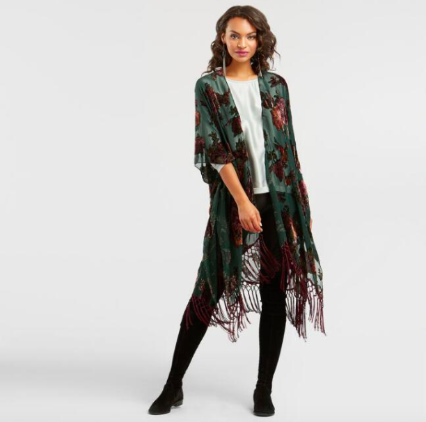 Holiday Gift Guide for College Students | World Market Velvet Kimono