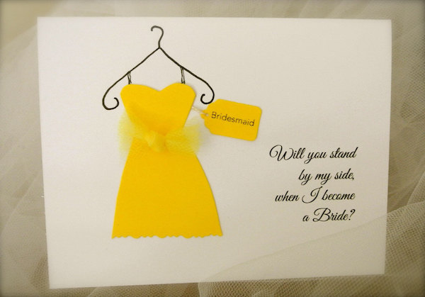 Bridesmaid Card by Etsy