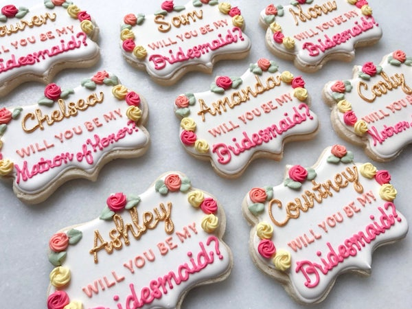 Bridesmaid Cookies