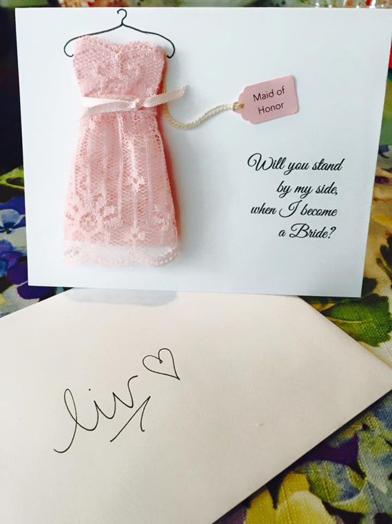 Cute Ways to Ask Your Bridesmaids: Maid of Honor Custom Card