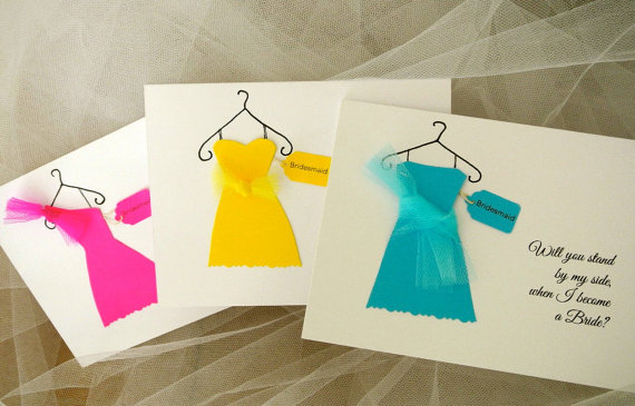 Cute Ways to Ask your Bridesmaids to be in your wedding with handmade cards
