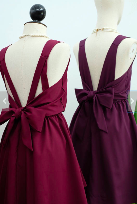 Affordable Handmade Bridesmaid Dresses from Etsy | Plum Party Dress