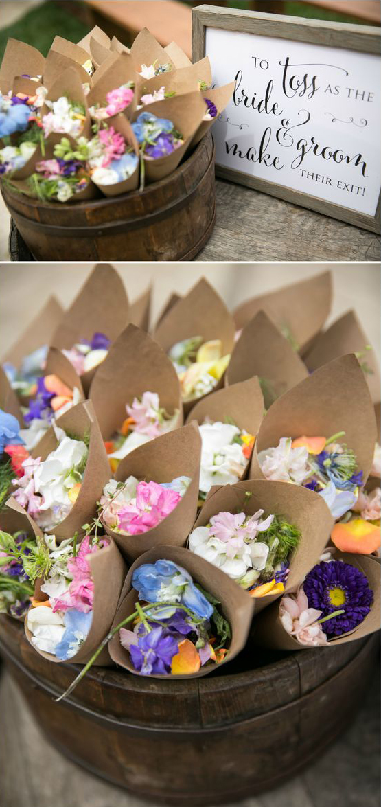 Eco-friendly Wedding Send-offs | Flower Petals
