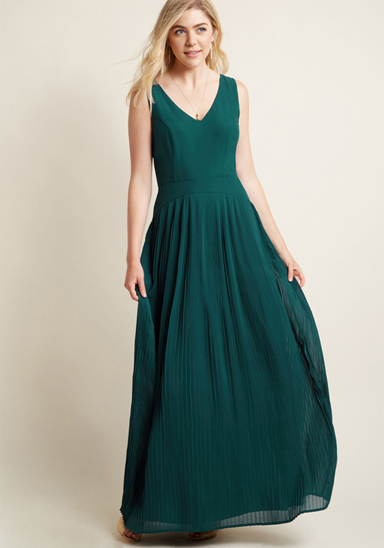 Inexpensive Bridesmaid Maxi Dress from Modcloth | Dropwaist Maxi Dress
