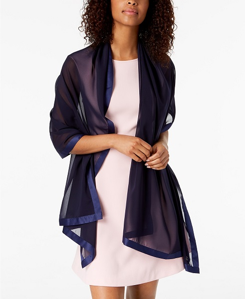 Winter Wedding Accessories | Satin Trimmed Wrap